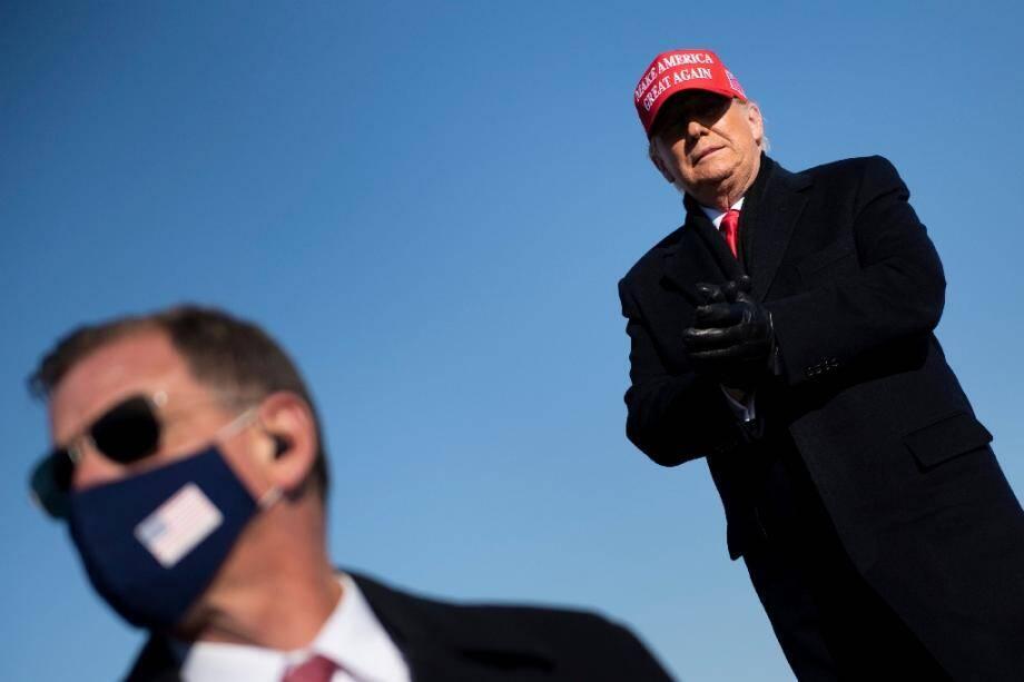 Le président américain Donald Trump participe à un meeting de campagne Make America Great Again à Dubuque, dans l'Iowa, le 1er novembre 2020