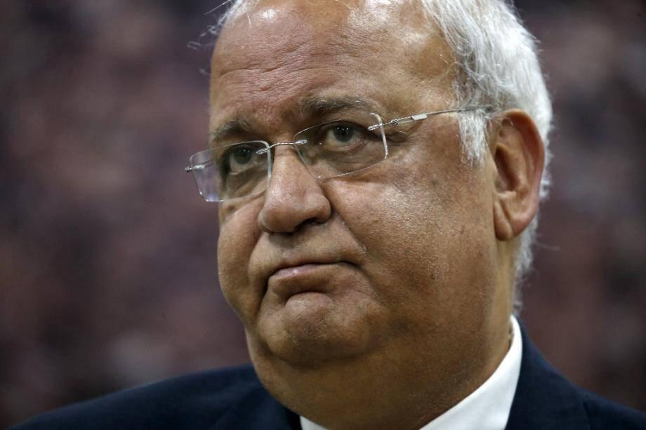 Le secrétaire général de l'Organisation de libération de la Palestine, Saëb Erakat, le 3 mars 2020 à Ramallah, en Cisjordanie occupée