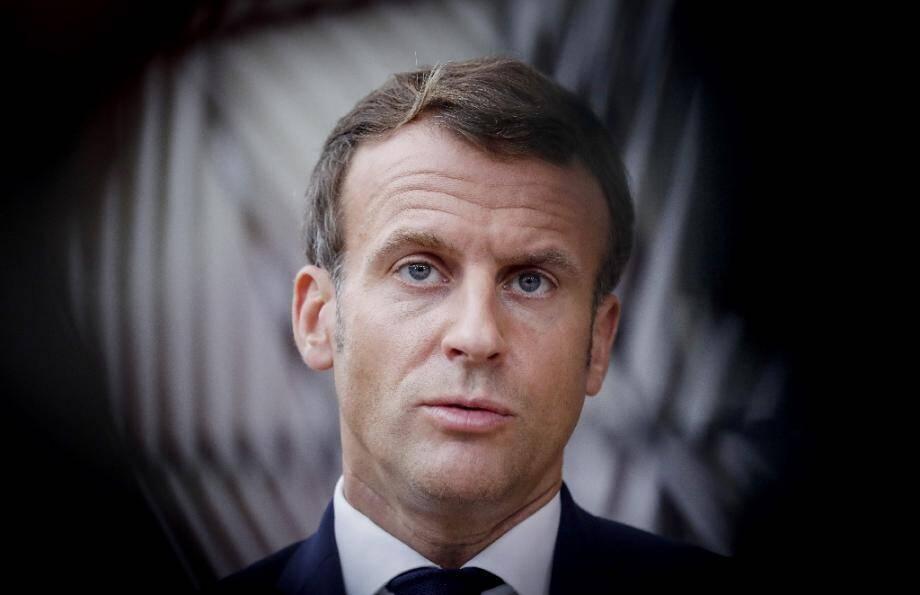 Le président français Emmanuel Macron le 15 octobre 2020 à Bruxelles