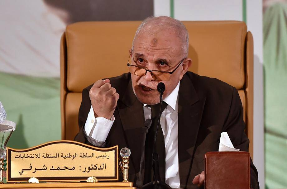 Mohamed Charfi, président de l'Autorité nationale indépendante des élections (ANIE) lors d'un discours à Alger, le 2 novembre 2020