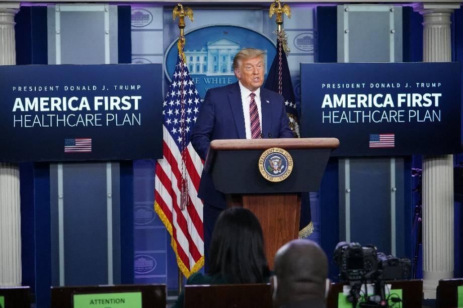 Donald Trump s'exprime depuis la salle de presse de la Maison Blanche le 20 novembre 2020