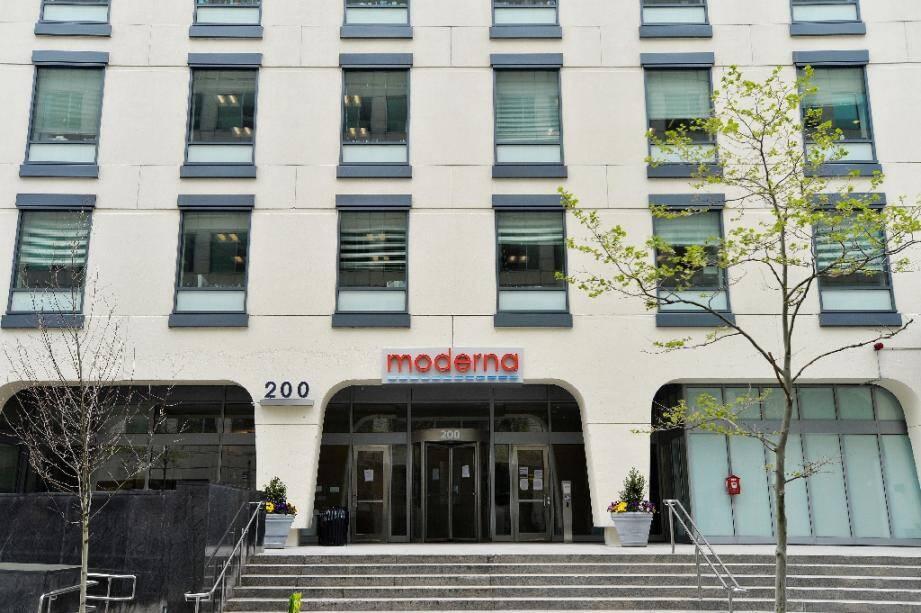 Le siège du laboratoire américain Moderna à Cambridge, au Massachusetts, en mai 2020