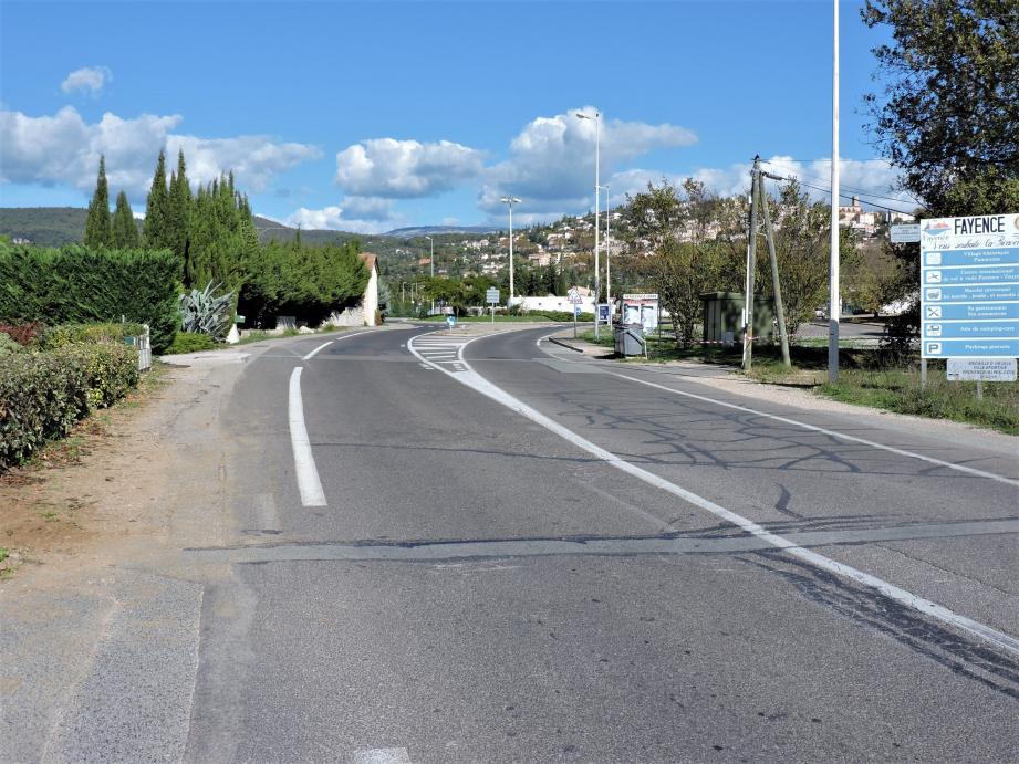 Une piste cyclable devrait voir le jour route de Fréjus.