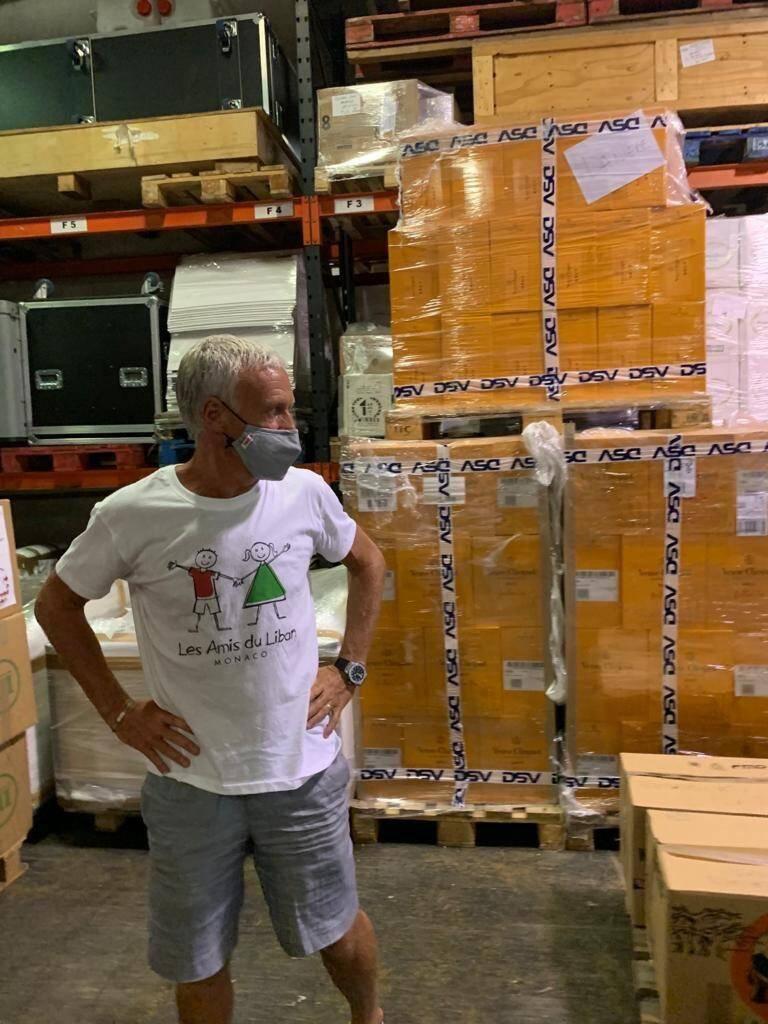 Didier Deschamps mobilisé auprès de l'association des Amis du Liban.