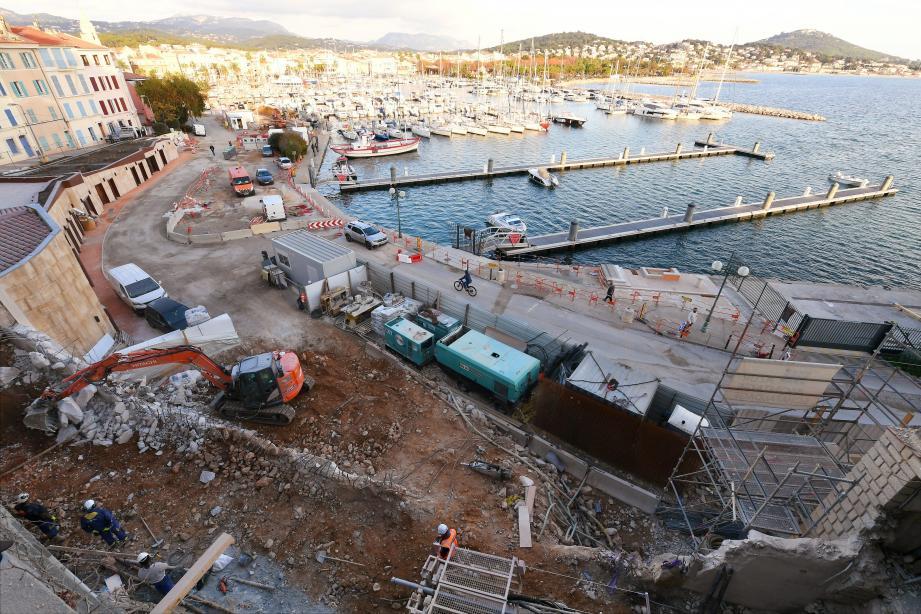 Une projection du projet immobilier Les Voiles du port...