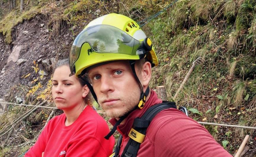 Lucas Schmit, habitant de Cagnes-sur-Mer, est un habitué de la Vésubie, où il a vécu et pratique l'alpinisme.
