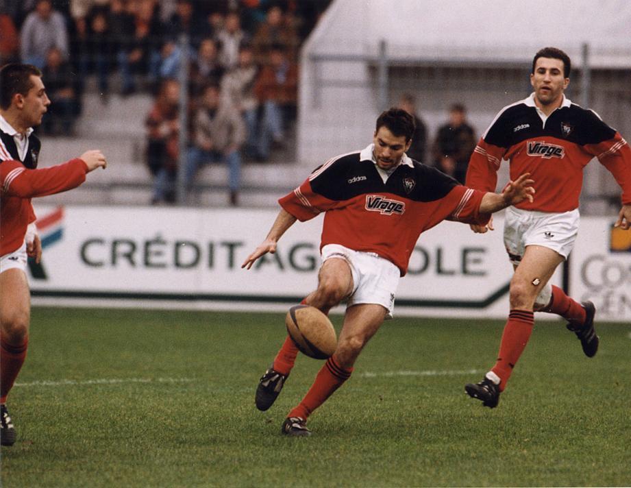 Christophe Dominici a porté le maillot du RCT de 1993 à 1997 avant de s'exiler au Stade Français avec lequel il décrochera cinq titres de champion de France.