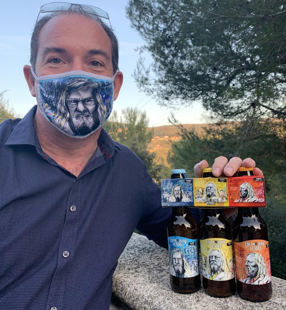 Bières et masques.