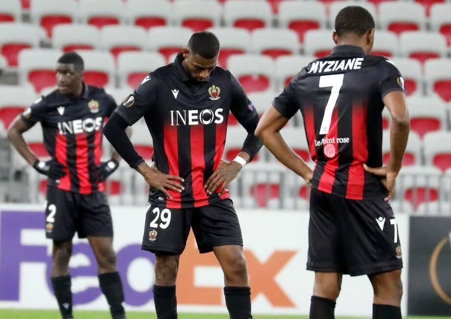 Nsoki, Reine-Adélaïde et Myziane dans le flou après la nouvelle défaite du Gym en Ligue Europa.