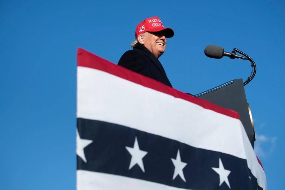 Le président américain Donald Trump lors d'un meeting à Avoca, le 2 novembre 2020 en Pennsylvanie