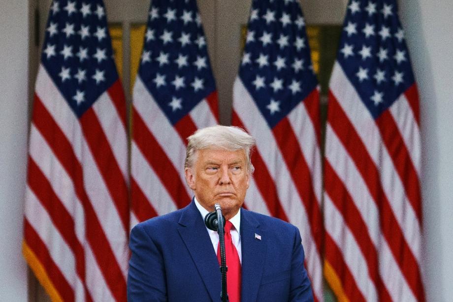 Le président américain Donald Trump, le 13 novembre 2020 à la Maison Blanche, à Washington