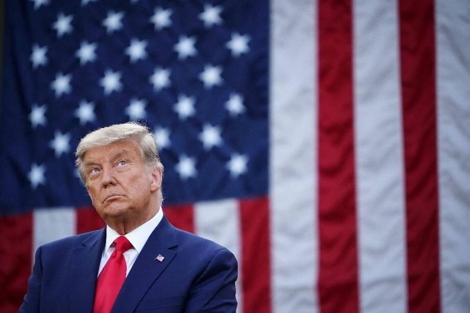 Donald Trump, le 13 novembre 2020 dans les jardins de la Maison Blanche, à Washington