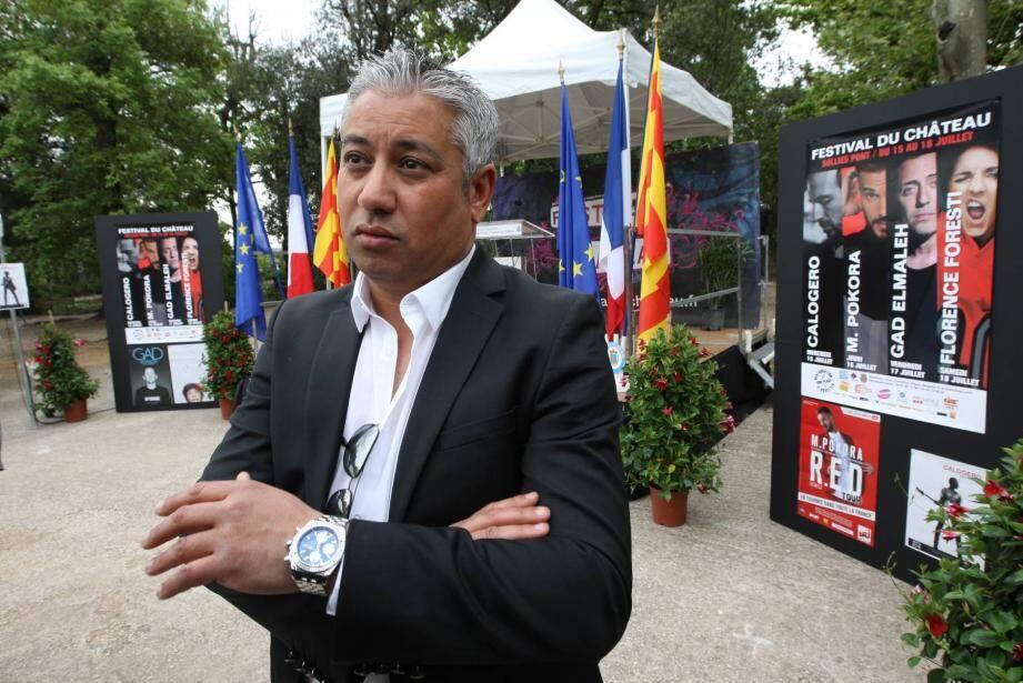 Rabah Houia, directeur du festival. du chateau à Solliès-Pont notamment.  PT PRESSE FESTIVAL DU CHATEAU DS LE PARC PAPIER SM RABAH HOUIA DE SUD CONCERT
