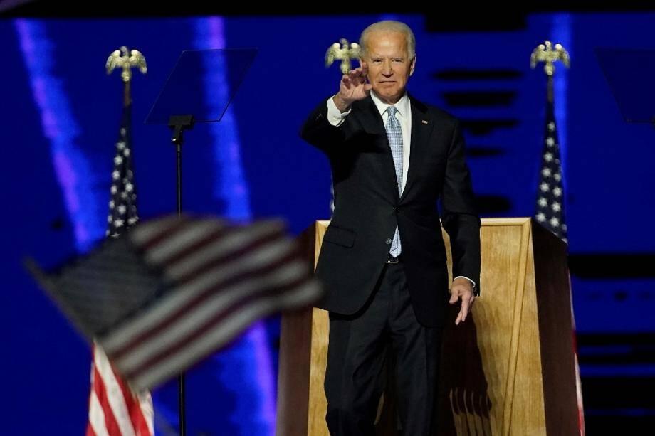 Le président élu des Etats-Unis Joe Biden à Wilmington le 7 novembre 2020