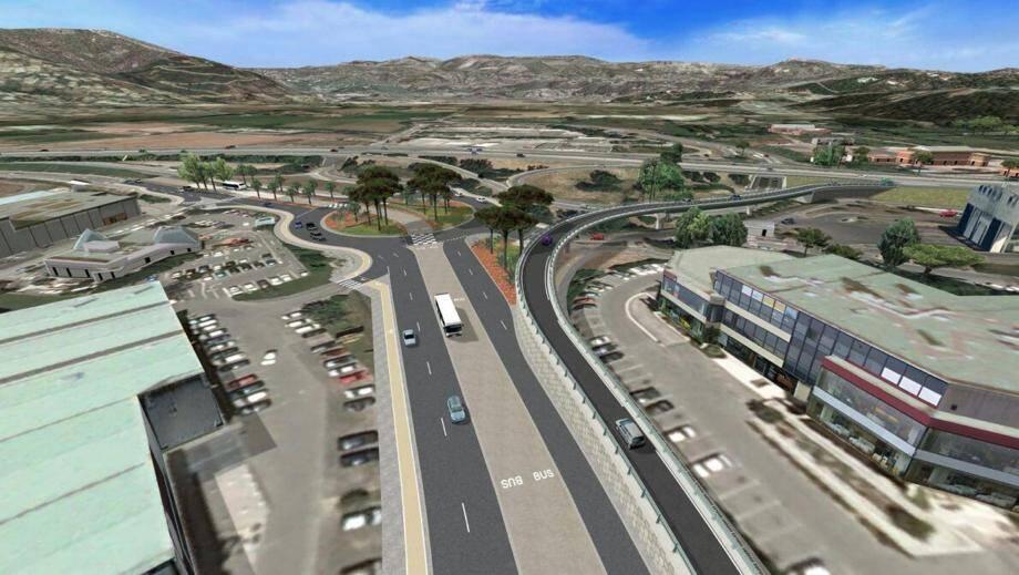 Le projet de bretelle d'accès direct à l'autouroute A8 depuis Les Tourrades, tel qu'il avait été présenté par la société Escota en 2016.