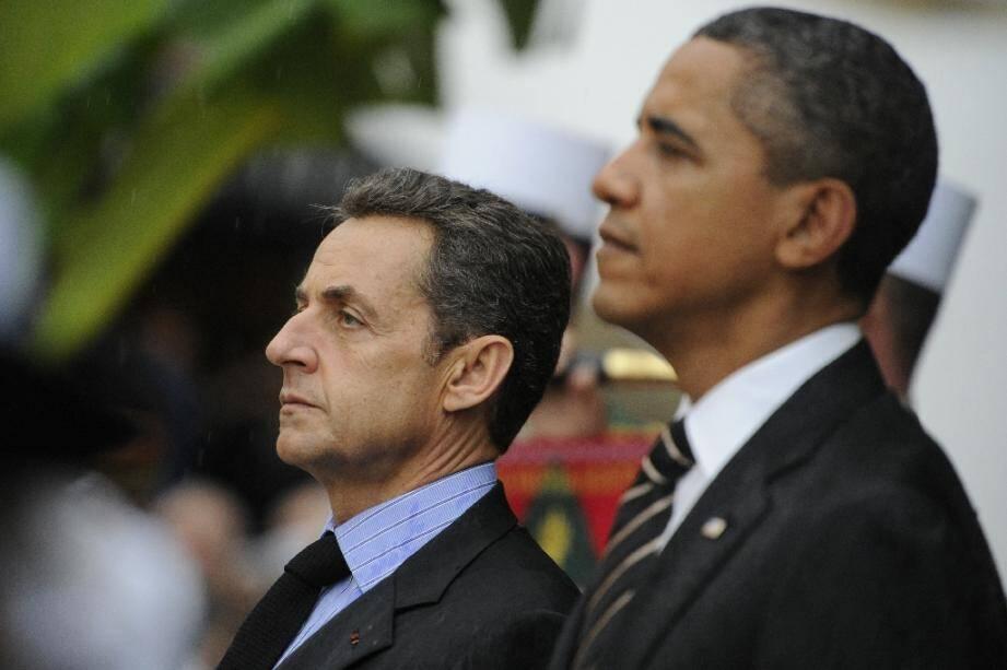 Nicolas Sarkozy et Barack Obama à Cannes le 4 novembre 2011