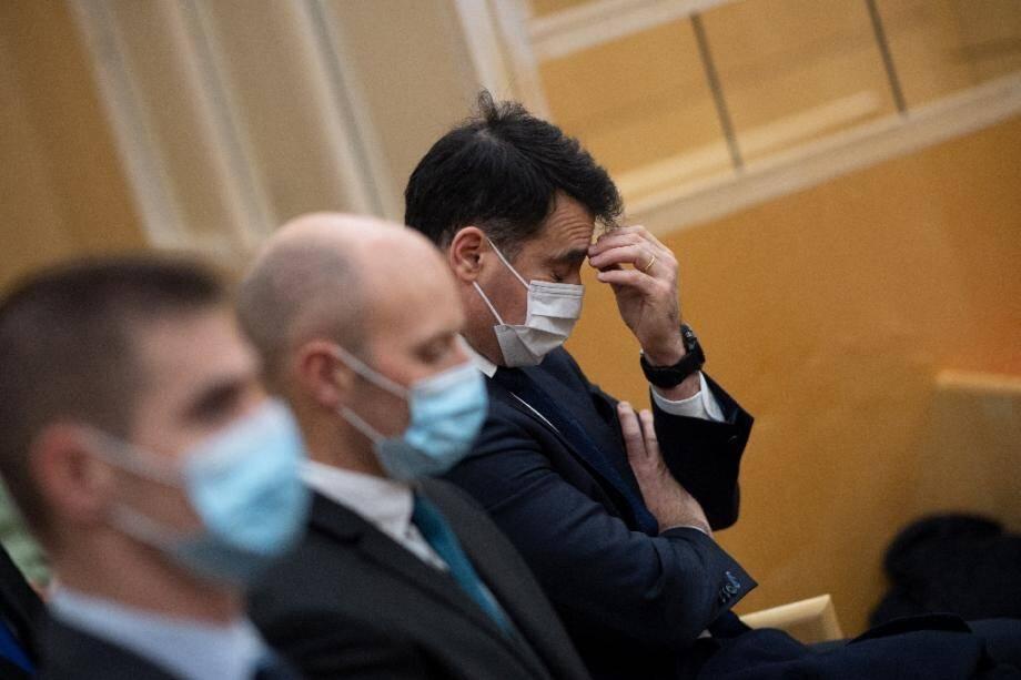 Trois des sept militaires qui comparaissent après la noyade d'un sous-officier en 2012, le 23 novembre 2020 à Rennes