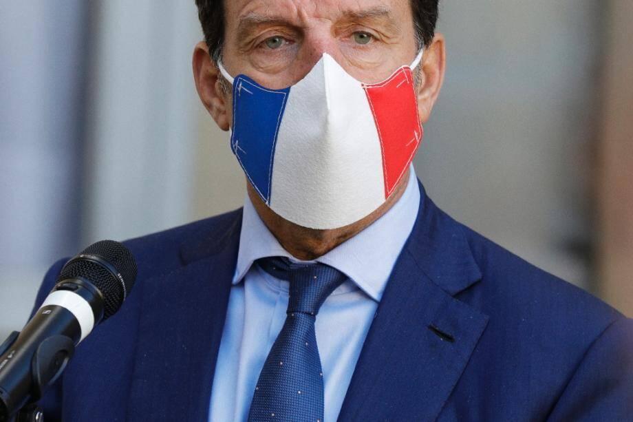Le président du Medef Geoffroy Roux de Bézieux à Matignon, le 26 àctobre 2020