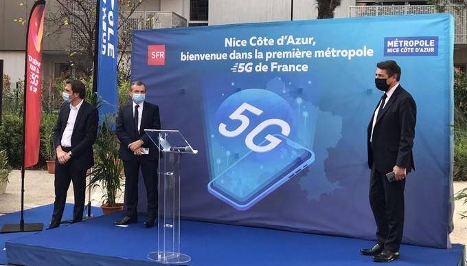 Alain Weill (G) et Christian Estrosi (D), lors du lancement à Nice ce vendredi.