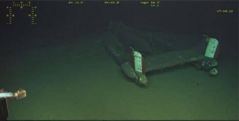 L'épave de l'Aquilon 83 retrouvée le 20 novembre.