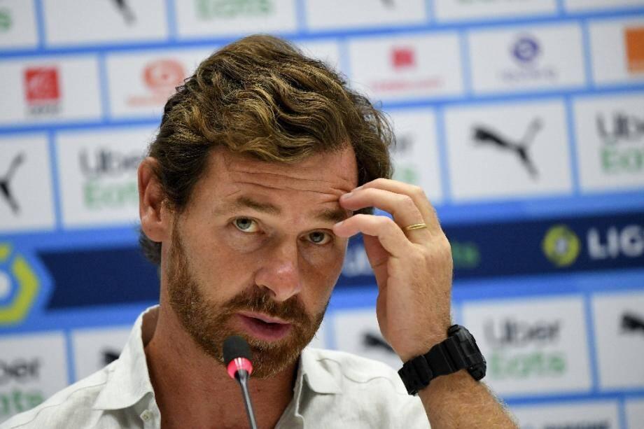 L'entraîneur de l'Olympique de Marseille André Villas-Boas lors d'une conférence de presse, le 11 septembre 2020 au Stade vélodrome