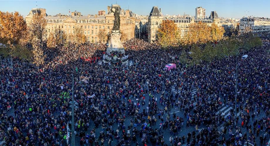 """Manifestation contre la loi """"sécurité globale"""", le 28 novembre 2020 à Paris"""
