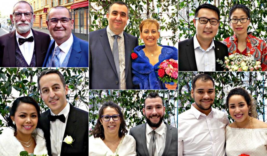 Six couples se sont unis ce week-end à Nice