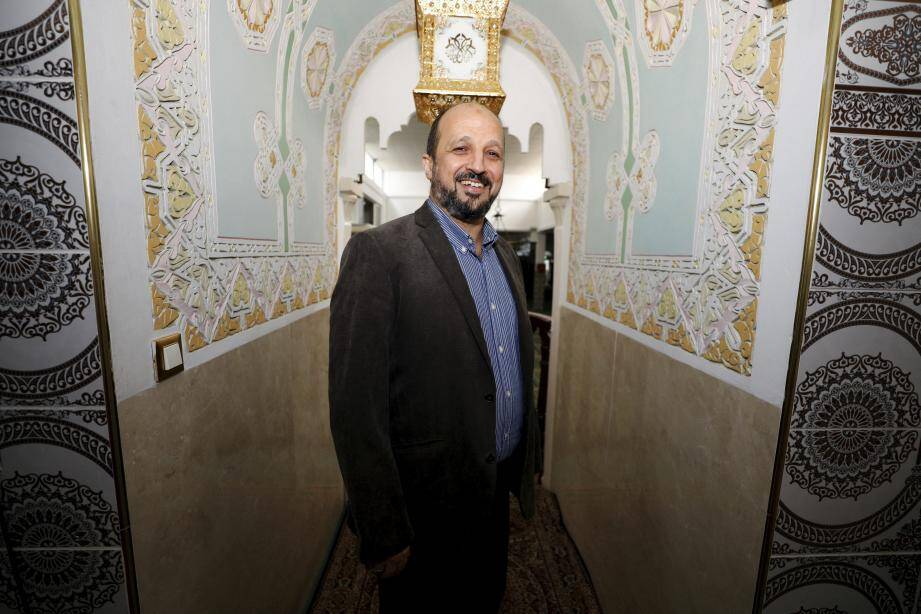 Otmane Aïssaoui est l'imam de la mosquée ar-Rahma à L'Ariane, coprésident de l'association Union des musulmans des Alpes-Maritimes.
