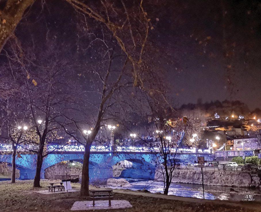Ce jeudi, et jusqu'à dimanche, le pont du Loup notamment sera aux couleurs de l'UNICEF.