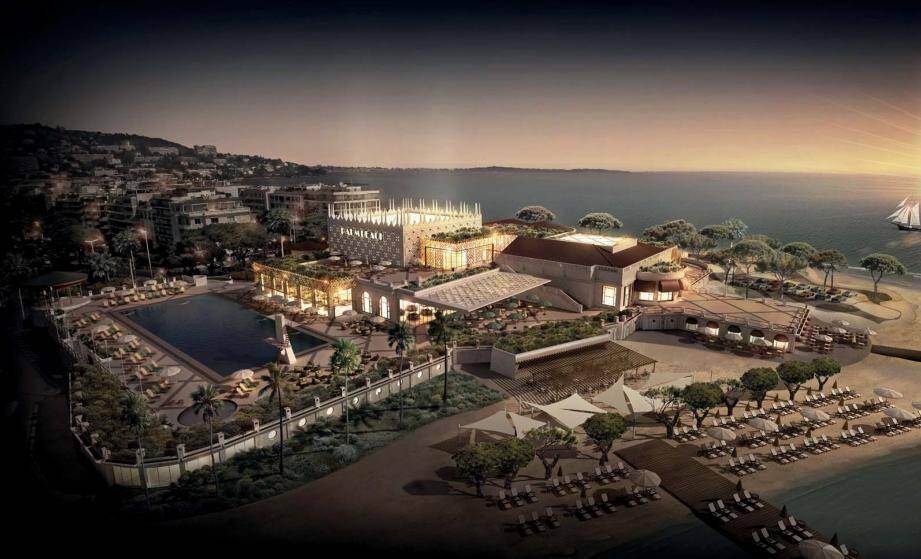 Le Palm Beach, tel qu'il devrait renaître et être livré, peut-être avec parkings paysagers, d'ici 2023.