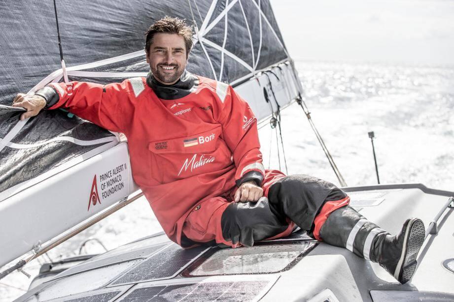 """Boris Herrmann, le skipper monégasque engagé dans le """"Vendée Globe"""", est passé de la 18e place à la 12e, ce dimanche."""