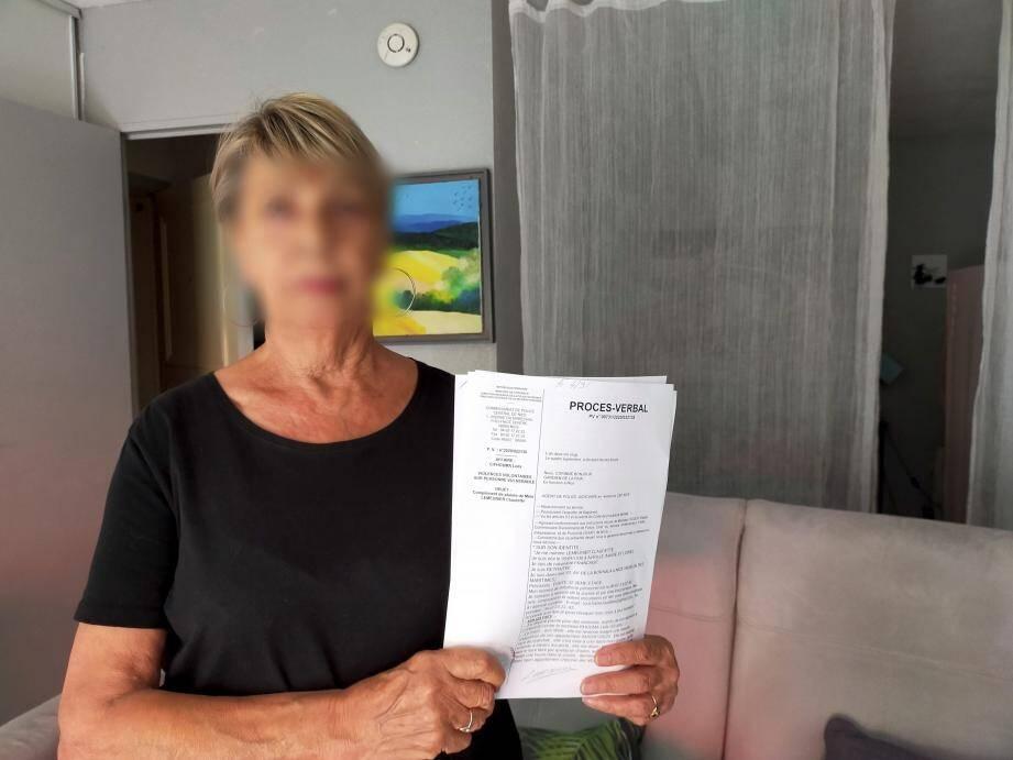 Claudette Touchane a déposé plainte contre son ancienne voisine le 27 août pour agression.