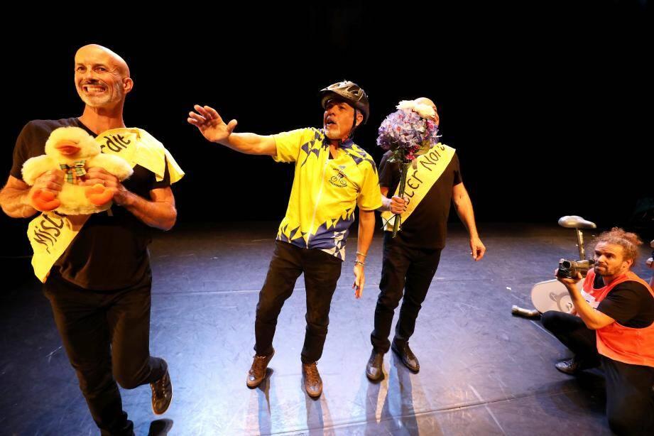 Répétition du spectacle de Pascal Guyot au théâtre le Forum à Fréjus .