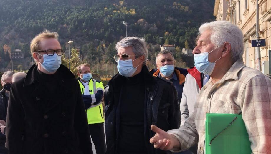 Pierre Biancheri, élu à La Brigue, a soumis ce projet aux préfets Pelletier et Gonzalez jeudi dernier.