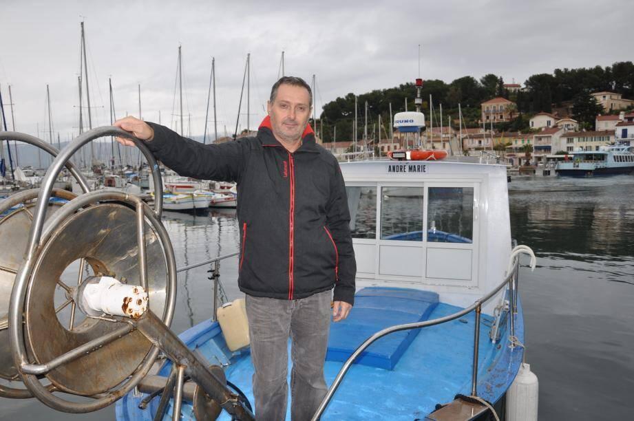 Franck Ravez, président de la commission oursins du comité départemental des pêches.
