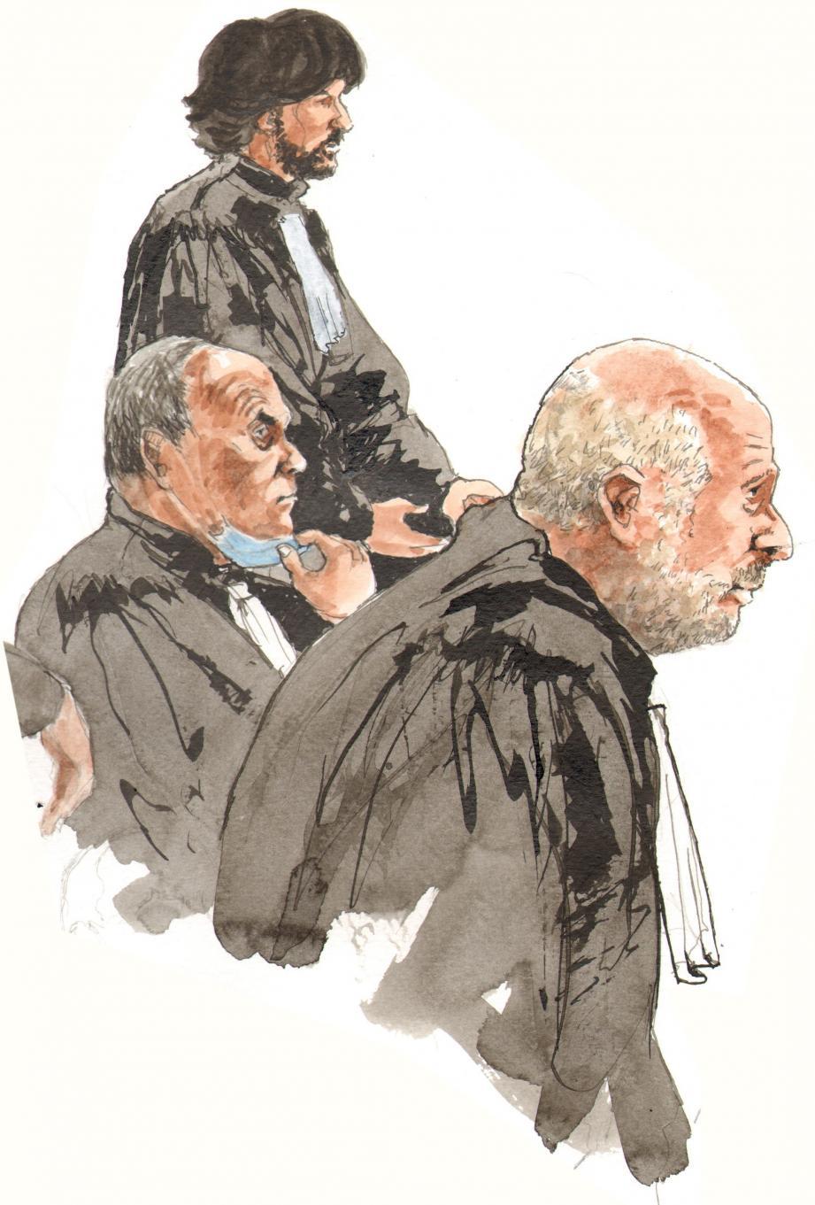 Mes Sollacaro, Sivan et Bérard (de haut en bas) réclamaient l'acquittement de leurs clients. Sans succès.