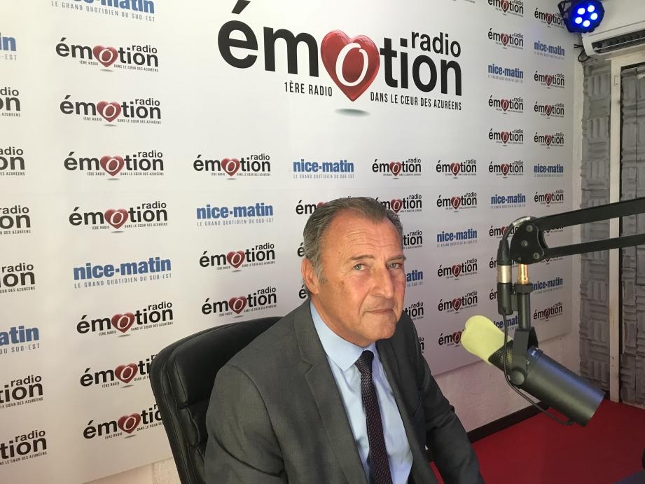 Lionnel Luca, maire de Villeneuve-Loubet, sur Radio Emotion ce samedi.