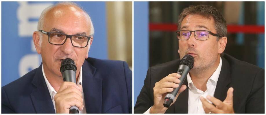Charles Scibetta et Yannick Bernard, ici lors du débat organisé par Nice-Matin avant le deuxième tour des élections municipales. Comme bon nombre d'autres dossiers, celui du parc de la Tourre les divise.