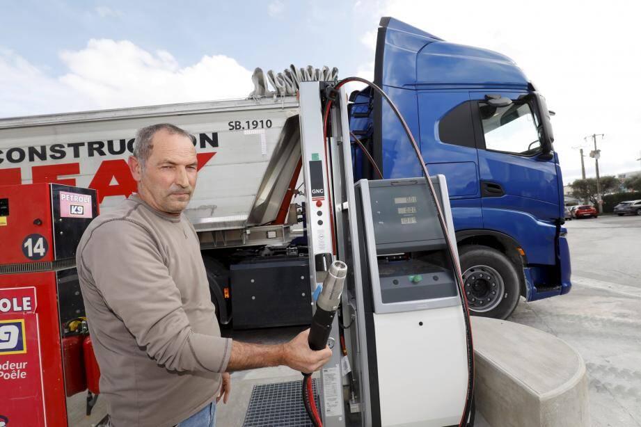 L'entreprise Bonifay à La Garde possède déjà une dizaine de poids lourds roulant au GNV ainsi que sa propre station d'avitaillement depuis quelques mois.