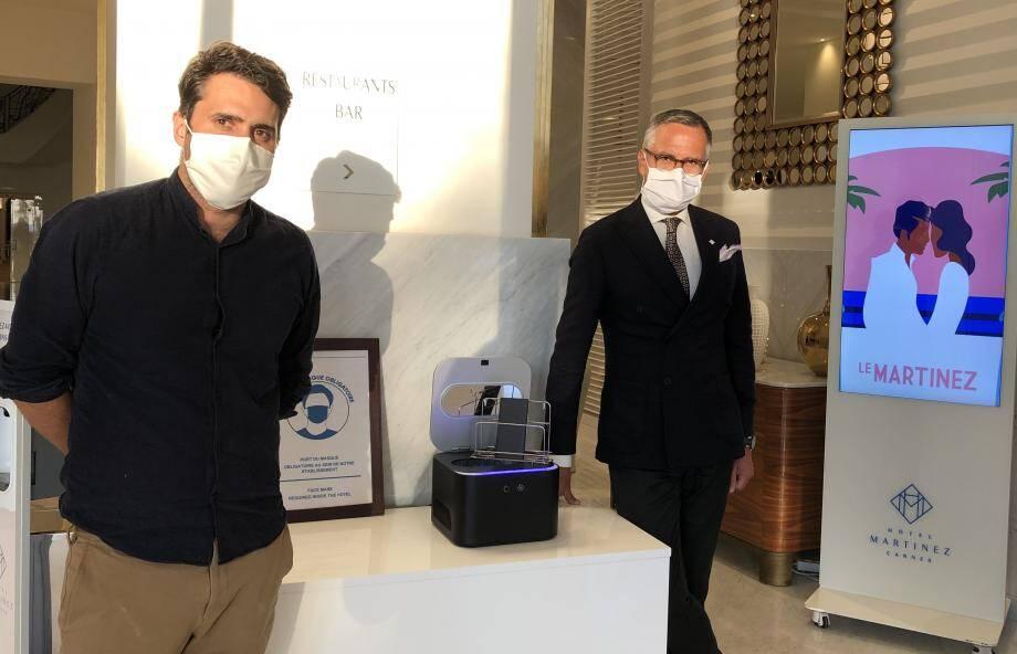 L'hôtel Martinez à Cannes a fait l'acquisition de sept boîtiers Uvo Care qu'il met à disposition de ses clients et collaborateurs.