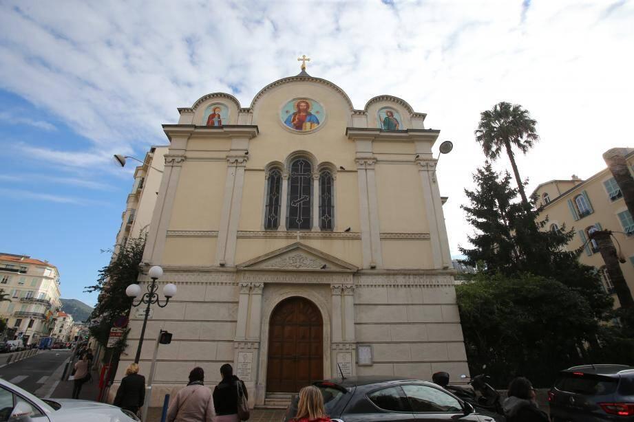 L'église russe Saint-Nicolas et Sainte-Alexandra de Nice.
