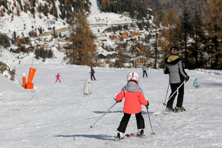 La station de ski d'Auron dans les Alpes-Maritimes.