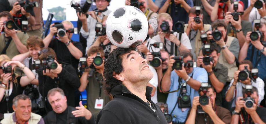Diego Maradona au Festival de Cannes en 2008.