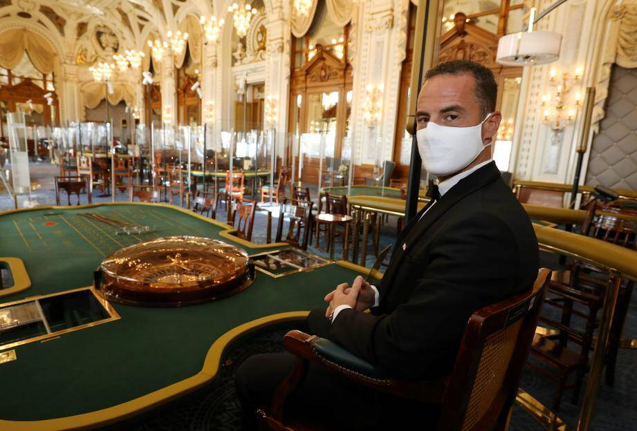 Le casino de Monte-Carlo à l'heure de la covid-19.