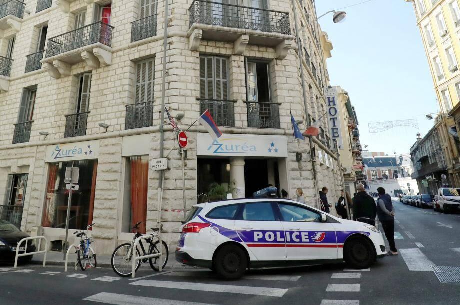L'hôtel de la rue Paganini dans lequel s'est déclaré un violent incendie ce week-end.