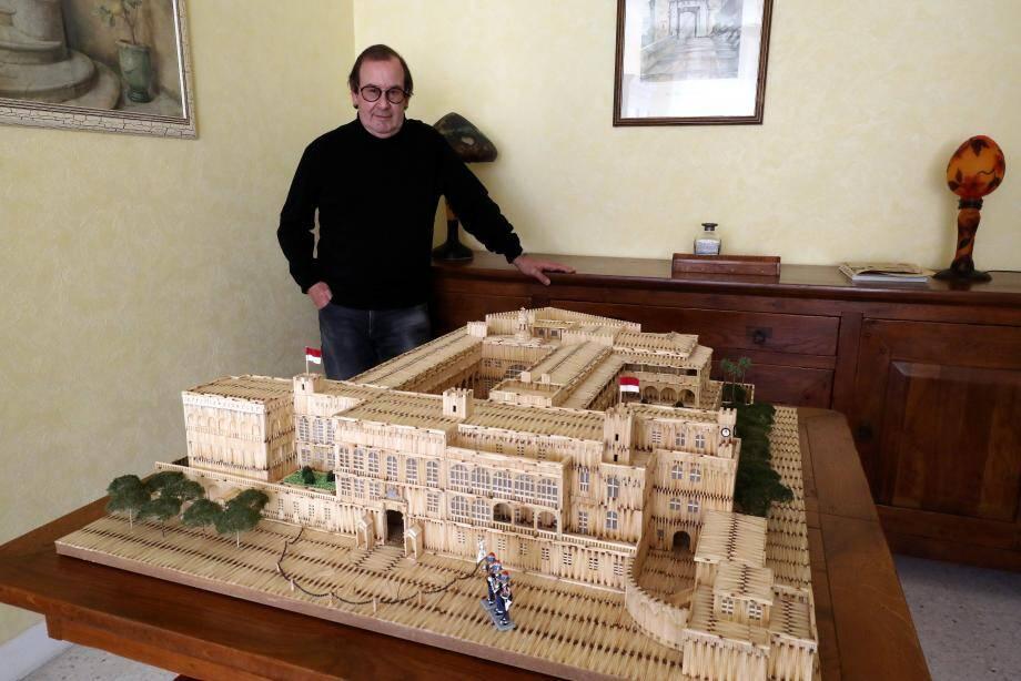 Il a fallu 32 500 allumettes, 200 tubes de colle et des centaines d'heure de patience pour réaliser cette maquette du Palais princier.
