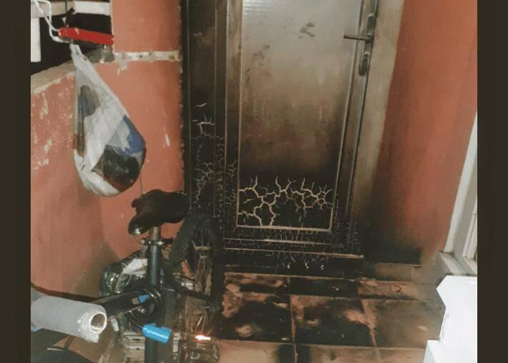Samedi soir, un cocktail molotov a enflammé le balcon de Thierry Billoir.