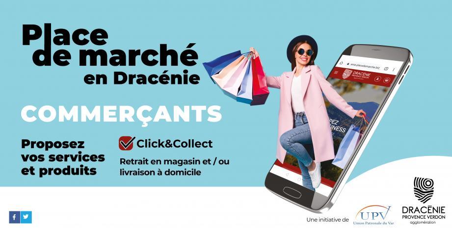 La plateforme est lancée par Dracénie Provence Verdon agglomération en collaboration avec l'Union Patronale du Var.
