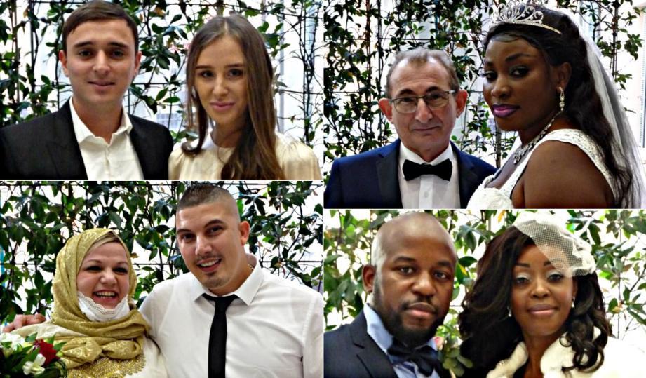 Quatre couples se sont unis en mairie de Nice