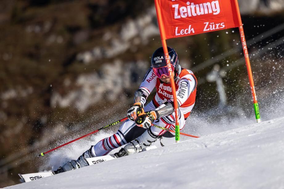 Mathieu Faivre lors des qualifications à Lech.